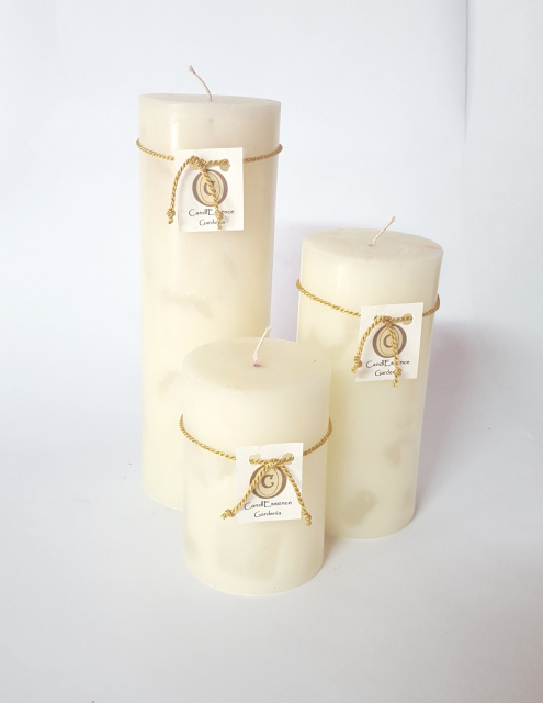 Extremely long burning scented pillar candles